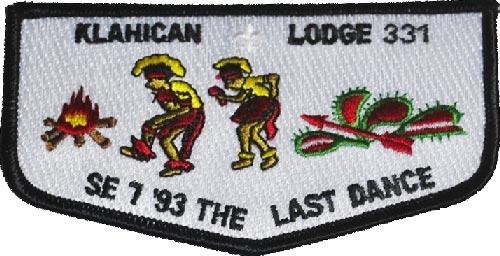 """OA Lodge 331 Klahican S27 SE-7 /'93 THE LAST DANCE 1946 1991/"""" 45th A10171"""